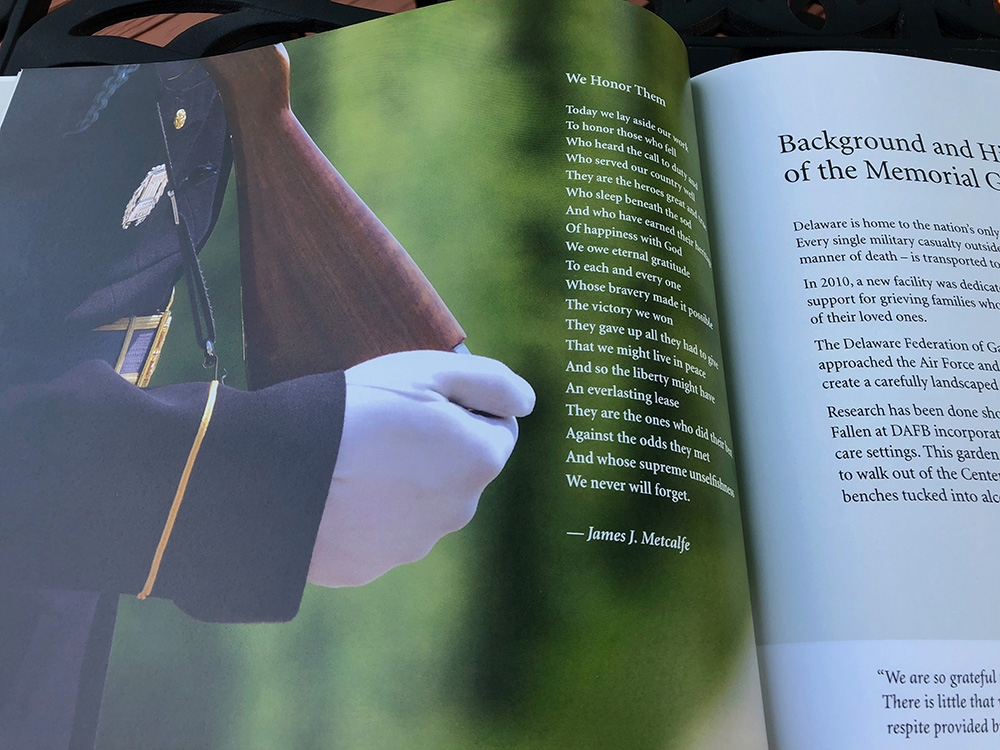 Blue Blaze custom designed book for Memorial Garden for the Fallen
