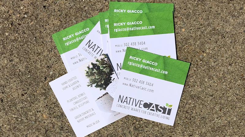 Native Cast Business Cards