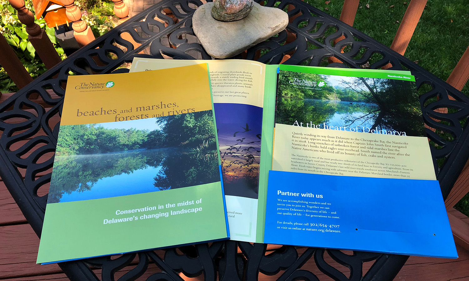 Examples of print work for The Nature Conservancy