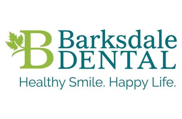 Blue Blaze custom designed Barksdale Dental logo