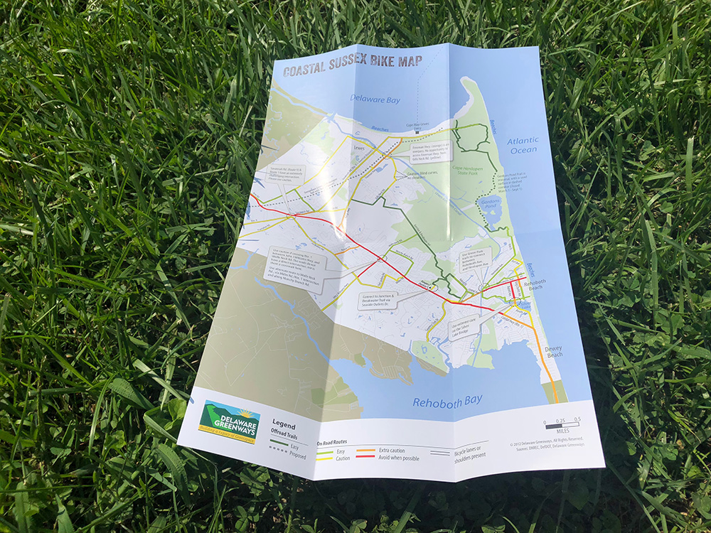 Examples of print work for Delaware Greenways