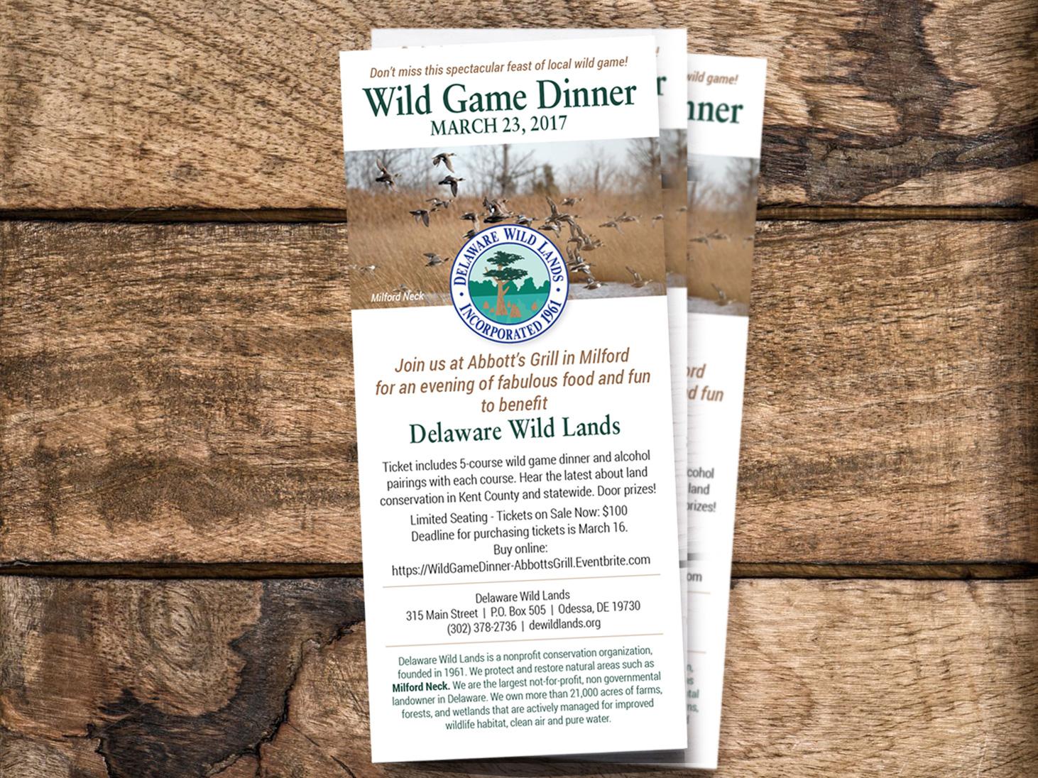 Delaware Wild Lands rack cards