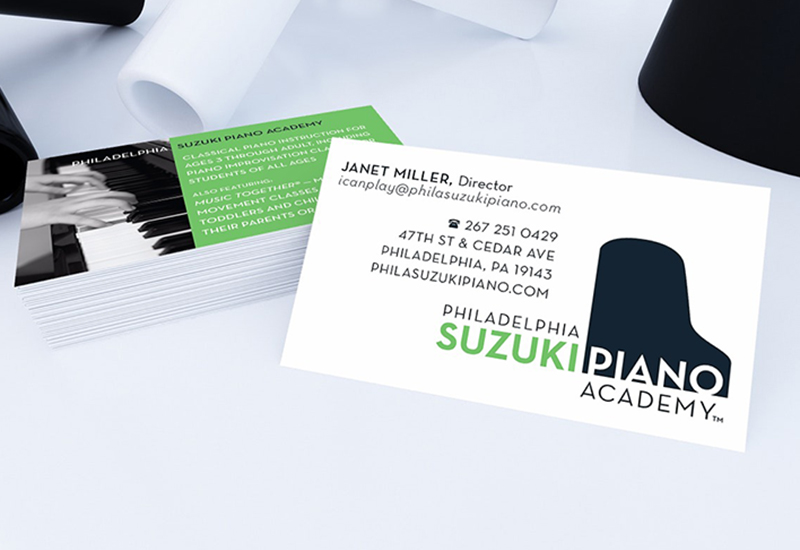 Example of print design for Philadelphia Suzuki Piano Academy