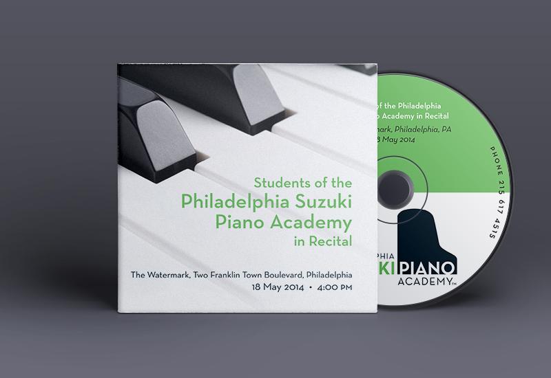 Blue Blaze designed CD cover for Philadelphia Suzuki Piano Academy