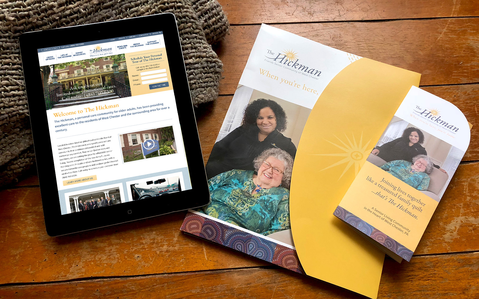 Blue Blaze custom designed print materials and website for The Hickman