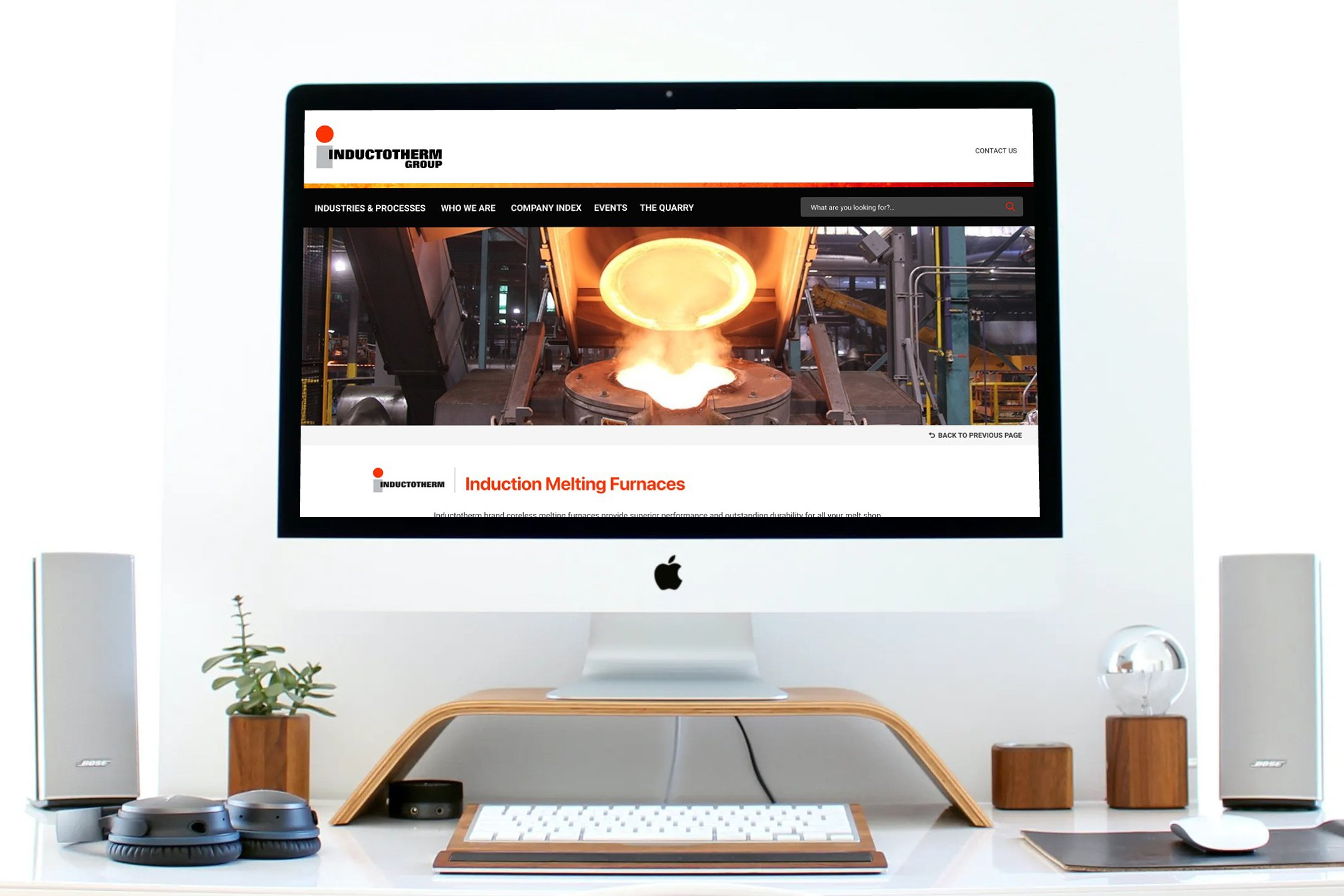 multinational, multilingual website designed by Blue Blaze on a desktop