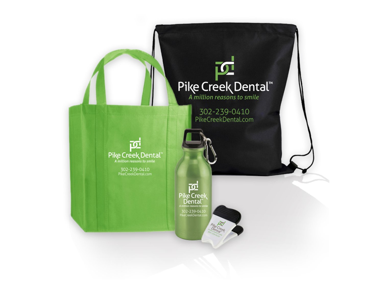 Blue Blaze logo designs marketing promotional materials for Pike Creek Dental