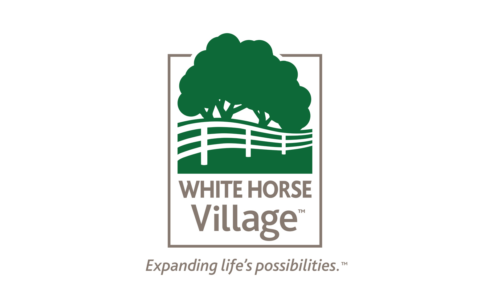 Blue Blaze designed White Horse Village logo