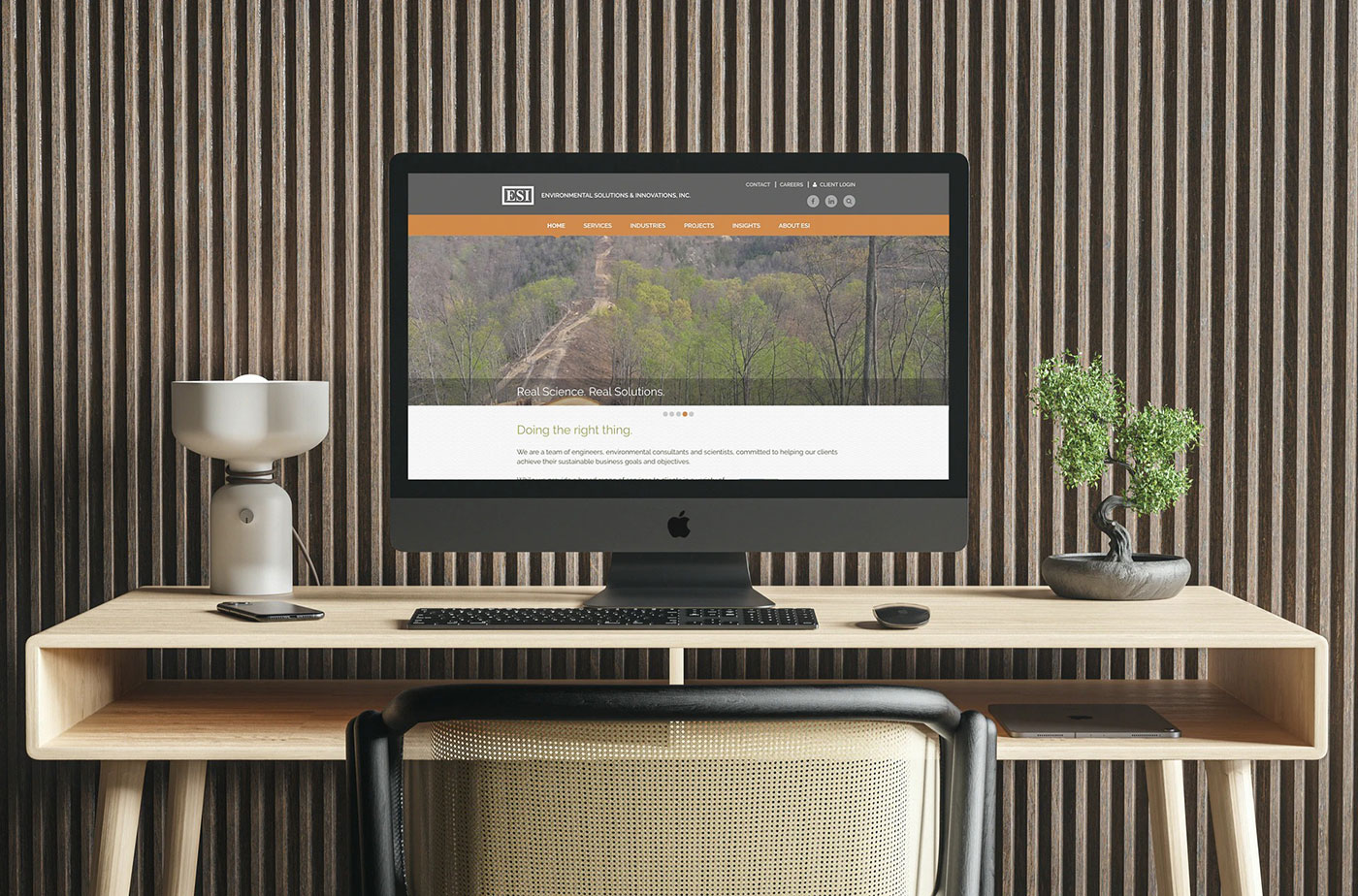 Environmental Solutions & Innovations, Inc SEO optimized website on a desktop computer