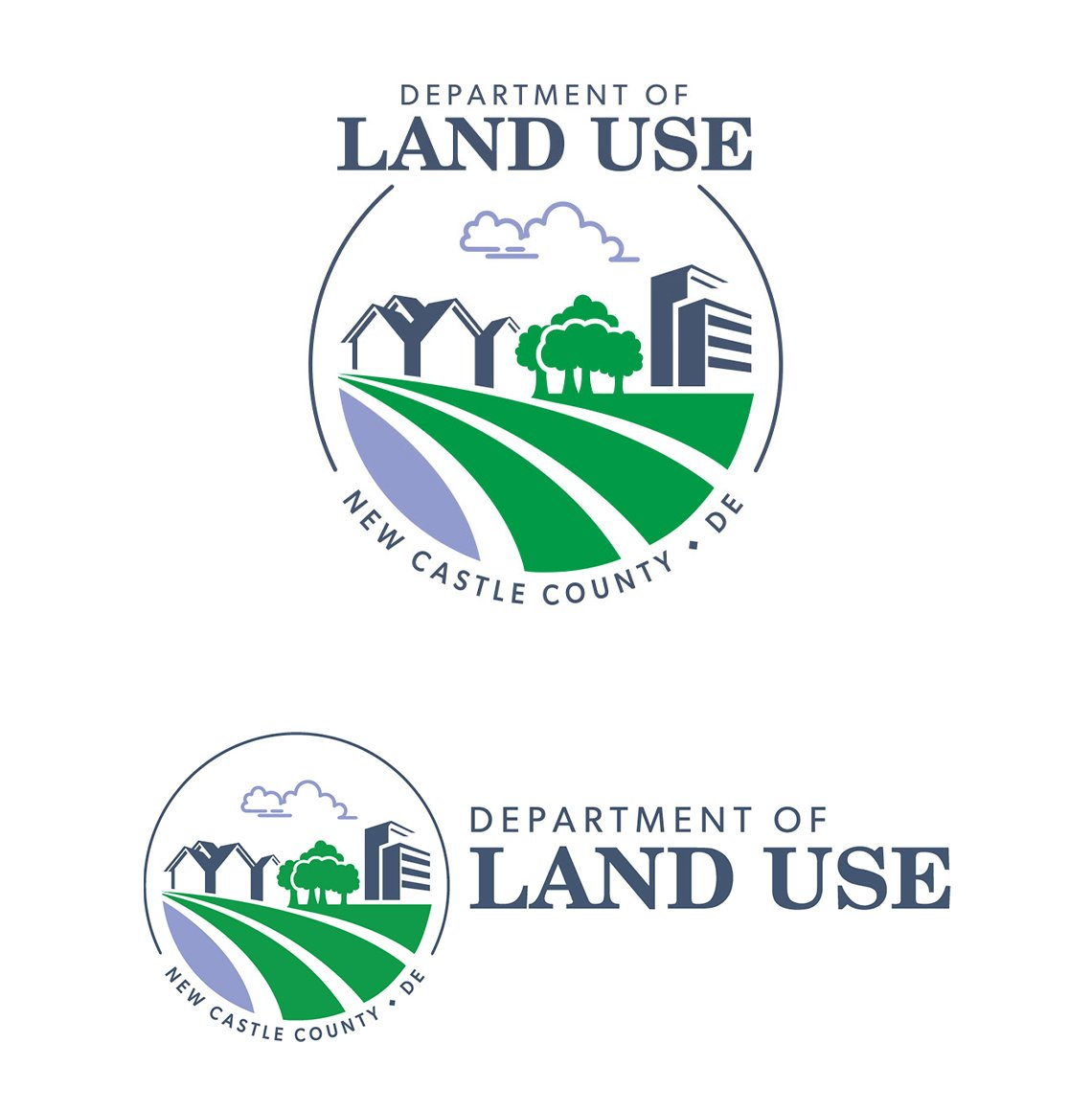 Blue Blaze designed logo for New Castle County Delaware Department of Planning and Land Use